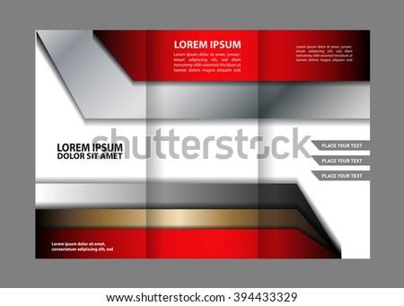 Trifold Brochure Stock Vector   Shutterstock