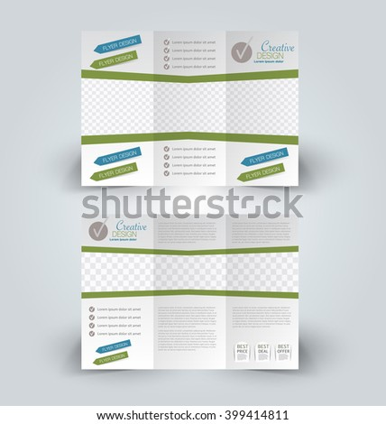 Excellent Day Care A4 Bi Fold Brochure Template