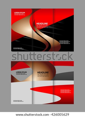 Vector Abstract Template Brochure Design Red Stock Vector