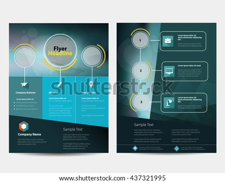 Brochure or Flyer Design Template in letter size
