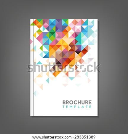 Brochure template, book cover, flyer design. - stock vector
