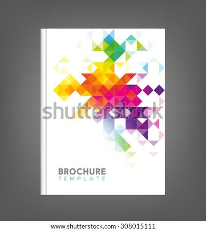 Brochure template, book cover, flyer design - stock vector