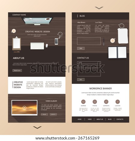 Brochure, template, booklet, magazine poster
