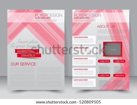 Vector Flyer Leaflet Design Set Two Stock Vector 451270288 ...