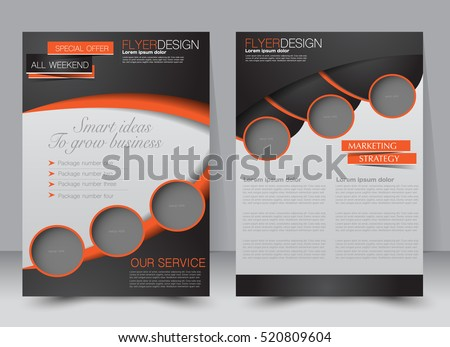 Brochure Template Business Flyer Annual Report Stock Vector Royalty - Editable brochure templates