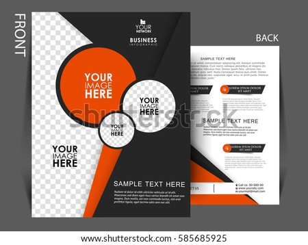 Vector Business Corporate Flyer Template Brochure Stock Vector
