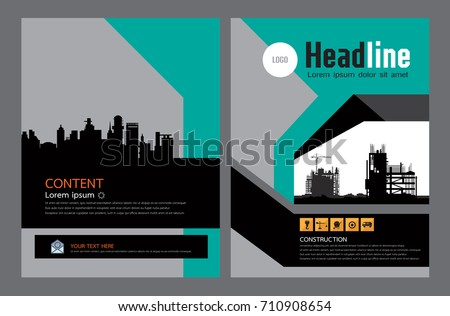 brochure template design concept of architecture construction layout