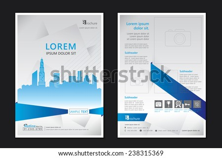 Brochure template design. Concept of architecture design. Vector illustration - stock vector