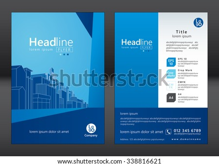 Architecture Design Template brochure template design concept architecture design stock vector