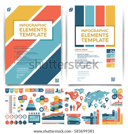 brochure template design cover layout infographics stock vector hd