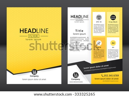 Brochure template design. Geometric pattern square. Vector illustration of geometry graphic design. - stock vector