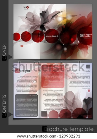 Brochure template design. Vector illustration. Eps 10. - stock vector