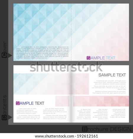 Brochure Template Design.  Vector Illustration. Eps 10 - stock vector