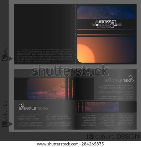 Brochure Template Design.  Vector Illustration. Eps 10 - stock vector