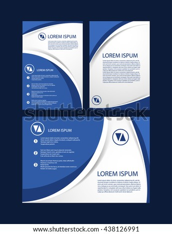 Abstract wave brochure business stock vector 211056355 for Basic brochure template