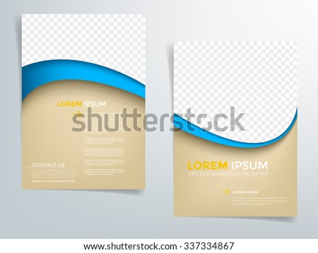 Brochure Template Flyer Background Business Design Stock Vector