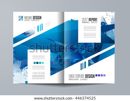 Brochure Template, Flyer Design Or Depliant Cover For Business Presentation  And Magazine Covers, Annual