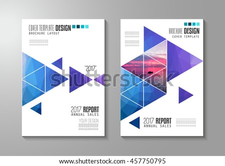 Brochure Template Flyer Design Depliant Cover Stock Illustration - Sales brochure template