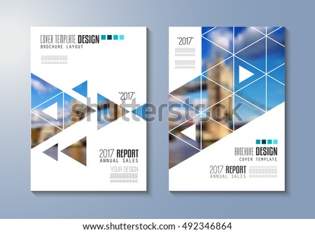 Brochure Template Flyer Design Depliant Cover Stock Vector - Elegant brochure templates