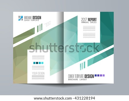 Brochure Template Flyer Design Leaflet Cover Stock Photo Photo