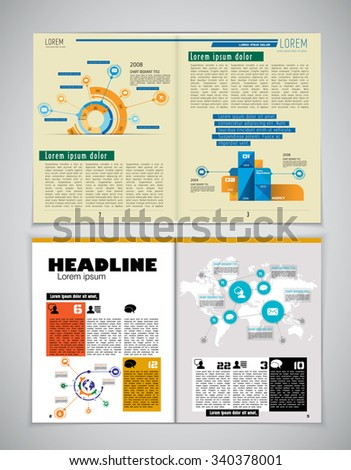 Brochure template for business, vector - stock vector