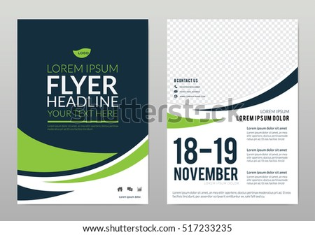 Brochure Template Layout Cover Design Annual Stock Vector - A brochure template
