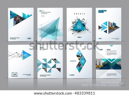 Brochure Template Layout Cover Design Annual Stock Vector - Sales brochure template