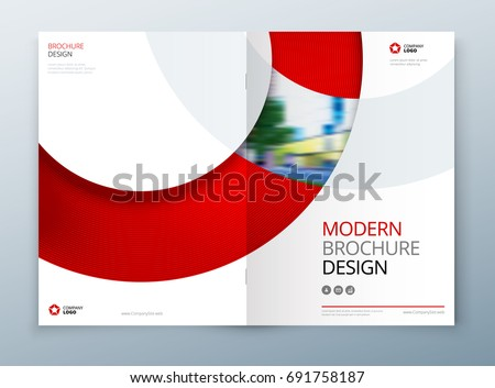 Brochure Template Layout Design Corporate Business Stock Vector - Modern brochure template