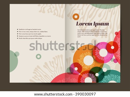 Brochure Template Colorful Abstract Background Retro Stock Vector