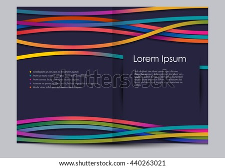 Brochure template with colorful lines, eps10 vector - stock vector