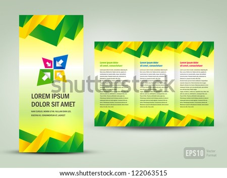 Brochure triangles colorful - stock vector