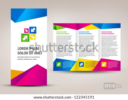 brochure triangles colorful stock vector 122345191 shutterstock