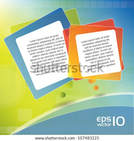 Brochure vector cover / background composition with speech bubbles - stock vector