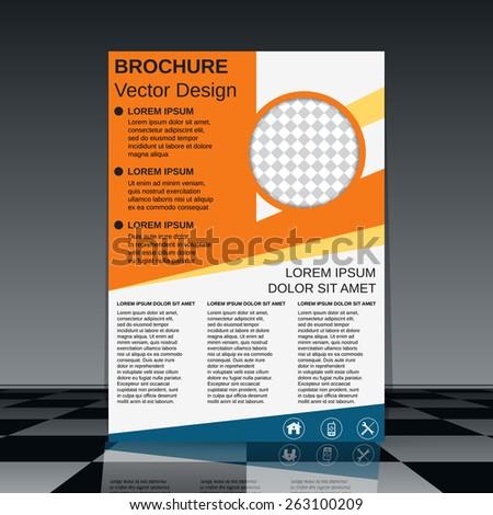 Brochure vector design. Flyer, booklet, poster template. - stock vector