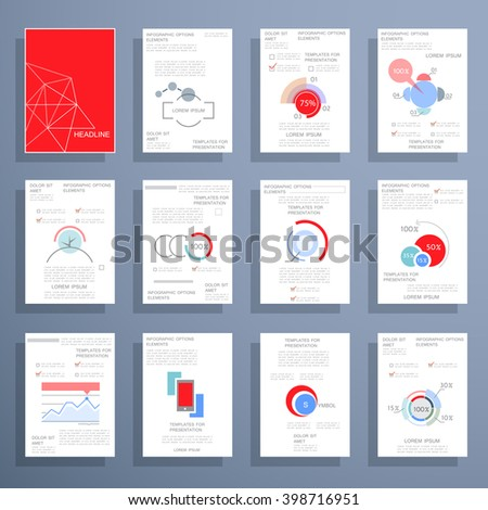 Infographic Flyer Brochure Designs Web Templates Stock Vector ...