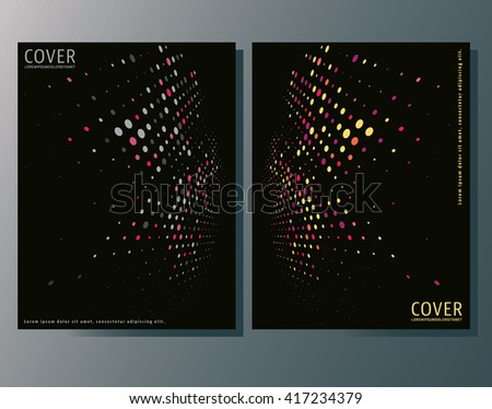 Brochures design template. Cover brochure, flyer, booklet layout. Abstract night club, party flyer template. Vector illustration - stock vector