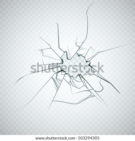 Broken glass. Vector