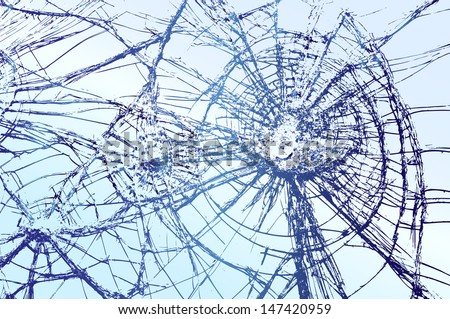 Broken Glass vector llustration - stock vector