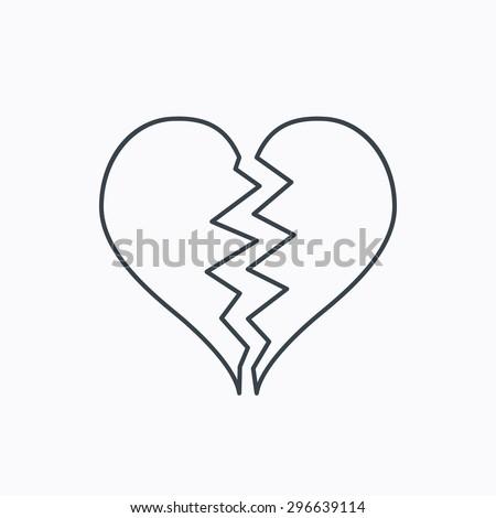 Broken Heart Icon Divorce Sign End Stock Photo Photo Vector