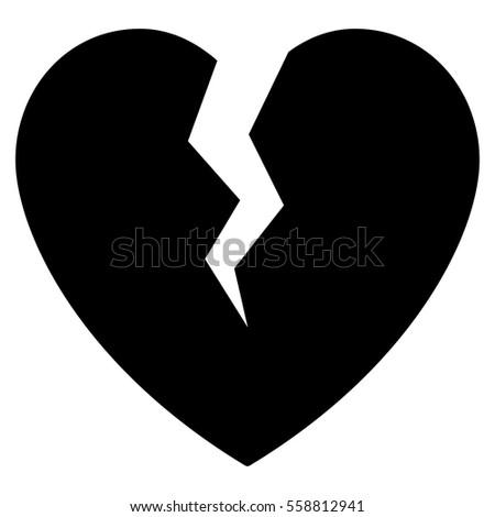 Broken Heart Logo Black   www.pixshark.com - Images ...
