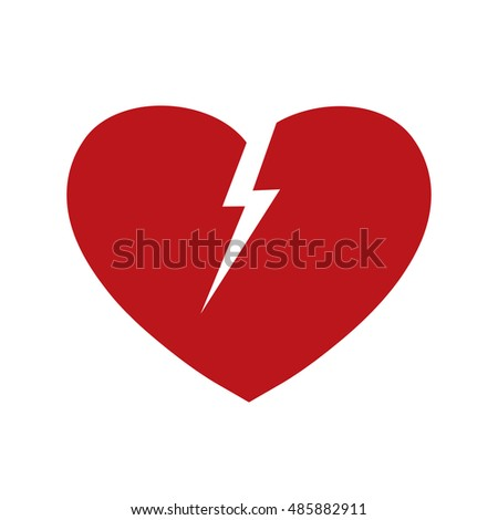 Broken heart vector isolated