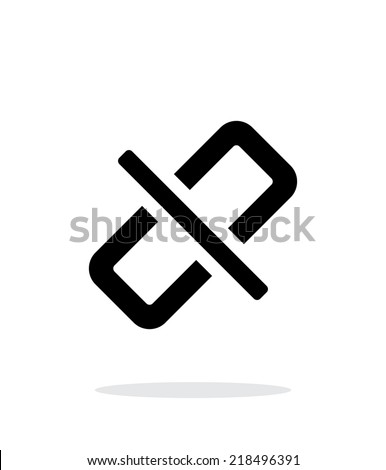 Broken link simple icon on white background. Vector illustration. - stock vector