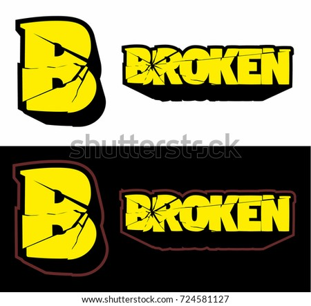 Broken logo cracked logo vector image stock vector 724581127 broken logo cracked logo vector image thecheapjerseys Gallery