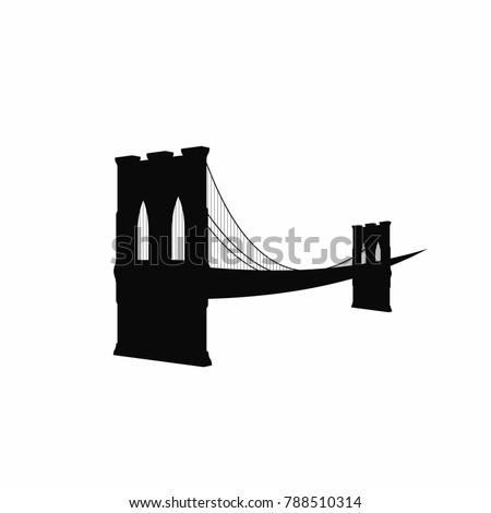 brooklyn bridge silhouette black brooklyn bridge stock vector hd rh shutterstock com Brooklyn Bridge Tattoo Brooklyn Bridge Silhouette