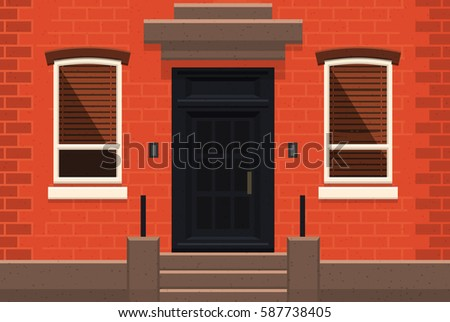 Picturesque Front Door Little Gate Vittoriosa Stock Photo