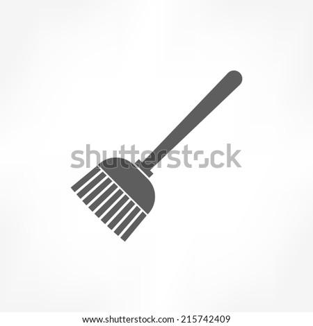 broom icon  - stock vector