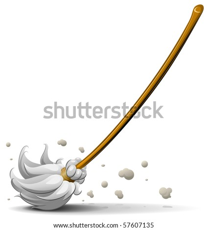broom sweep floor vector illustration - stock vector