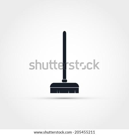 Broom vector icon - stock vector