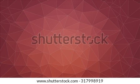 brown abstract background consisting of triangles for web design - stock vector