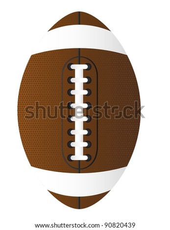 brown american football over white background. vector illustration